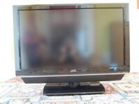 JVC 32inch TV Model LT DP8BJ + Stand + Remote + VHS Video Recorder + Freeview Box