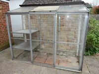 Wall mounted Greenhouse 1.8m by 2.2m - USED Condition
