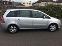 57 vauxhall zafira exclusiv 5 door mpv.7 seats.petrol.manual.anti-lock brakes