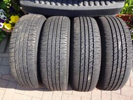 2 DUNLOP SP SPORT TYRES 185/65/15 good condition on 5stud wheels