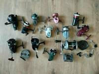 Collection of vintage fishing reels