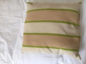 Set of 6 lovely stirped garden chair cushions