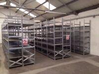 10 bays Galvenised SUPERSHELF industrial shelving 2m high ( pallet racking /storage)