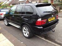 Black sports BMW X5 diesel sat Nav face lift 55 reg