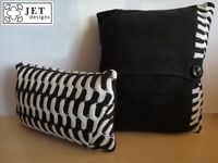 60's vintage upcycled knitted cushions