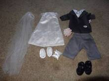 Baby Born Doll Wedding Dress and Groom Outfit. Kallaroo Joondalup Area Preview