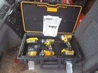 Dewalt 18 volt lithium ion xr brushless set