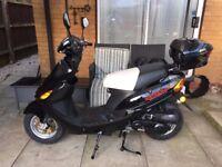 50CC Directbike Moped - Black