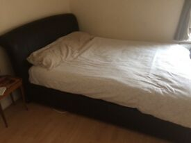 King-size brown leather beds and mattress