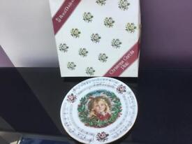 Christmas plate boxed as new