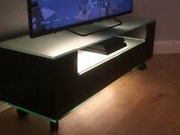 Greenapple Contemporary/Modern Stylish Glass TV unit/Stand (immaculate)- John Lewis/Heals