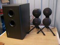 (SSTC) Technics SB W200 subwoofer and 2 x SB-F200 satellite speakers