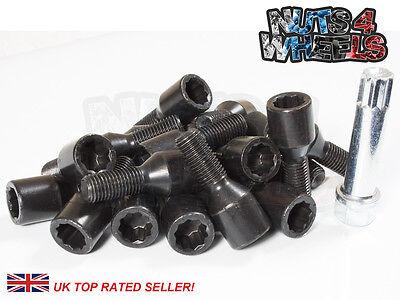 20 x Black Tuner Alloy Wheel Bolts M12x1.5 fits BMW M3 E90 E92 E93