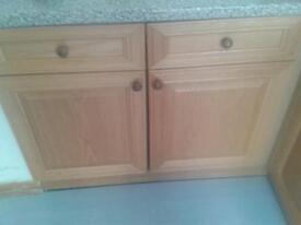 kitchen white base units
