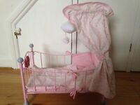 Baby Annabel Bed & baby carrier