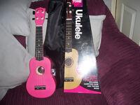 New Puretone Hot Pink Ukulele.