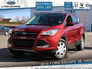 2015 Ford Escape **SE*AWD*CUIR*TOIT*CAMERA* BLUETOOTH*A/C 2 ZONE