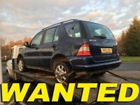 WANTED!!! MERCEDES ML JEEP ANY CONDITION