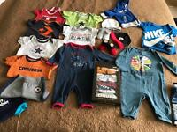 CONVERSE & NIKE baby bundle, 3-9 months (over 20 items)