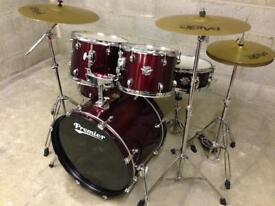Premier Drum Kit Cabria drums PAISTE cymbals