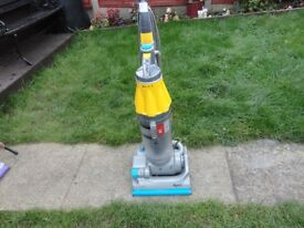 yellow and grey and blue dyson dc07 in good working order