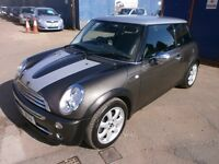 2006 MINI COOPER PARK LANE 1.6 MANUAL, GREY, FULL LEATHER INTERIOR, FULL S/ HISTORY,C LEAN LIKE NEW