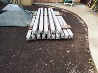Conrete intermediate slotted fence posts 2400mm Long