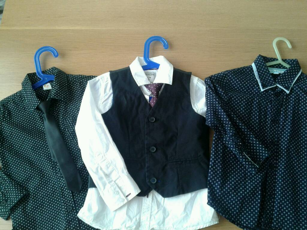 Boys shirts and tie sets age 3-4 & 4-5 years