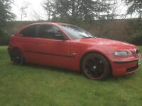 2002 BMW COMPACT 318TI IMOLA RED ALLOY WHEELS EXCELLENT CAR