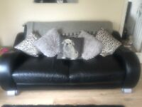 Sofa..Large 2 seat and large leather chair