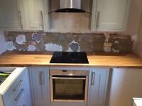 Solid oak kitchen counter top