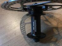 Bike disk brake and hub shimano