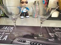 8 martini glasses - new - party - bar