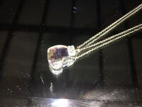 Swarovski Diamonte Heart/Butterfly Necklace