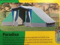 Canvas and steel 4 berth frame tent