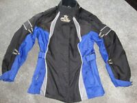 FDL CANVAS MOTORCYCLE JACKET BLACK AND BLUE