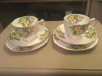 PRETTY VINTAGE CUPS AND SAUCERS
