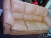 3 and 2 seater leather sofas in very good condition £150