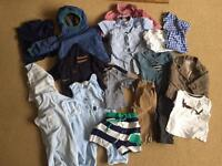 Bundle of baby boys clothes 6-12 months Exc condition