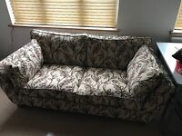 Marks and Spencer sofa with footstool, fab condition
