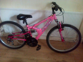 APOLLO FS24 GIRLS MOUNTAIN BIKE