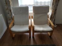 Pair of Ikea Poang chairs