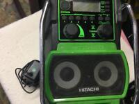 Hitachi radio 📻 work/ site radio