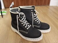 Dr. Martens Canvas Navy Womens Boots