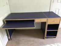 Student Desk with keyboard drawer and filing cabinet