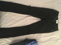 Girls Skinny Black ripped Jeans
