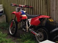 Honda Cr 125 road legal with a full day and night mot good little bike runs and rides as she should