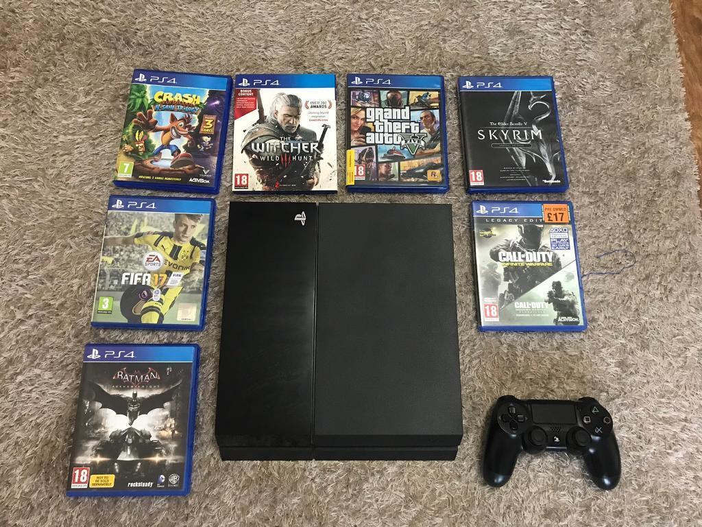 Sony Playstation 4 500gb With 7 Games In Shipley West Yorkshire Skyrim Special Edition Ps4 Gumtree