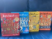 David Williams hardback 'Worlds Worst Children' Books