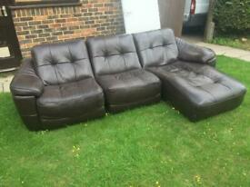 leather brown chunky corner sofa can deliver